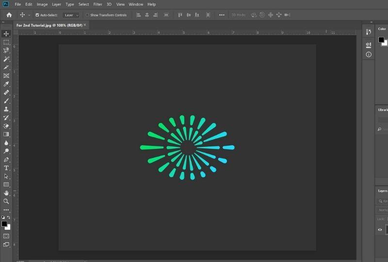 Making Logo Transparent using the Background Eraser tool