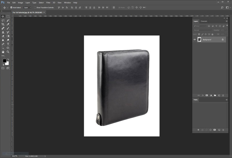 Upload Image in photoshop & Organize Your Tools