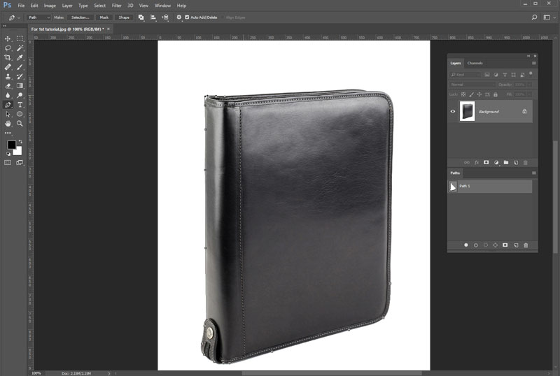 Get Started With the Pen Tool to isolate the object