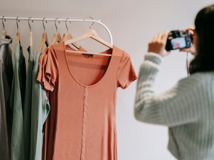 Photographing Clothes on a Hanger
